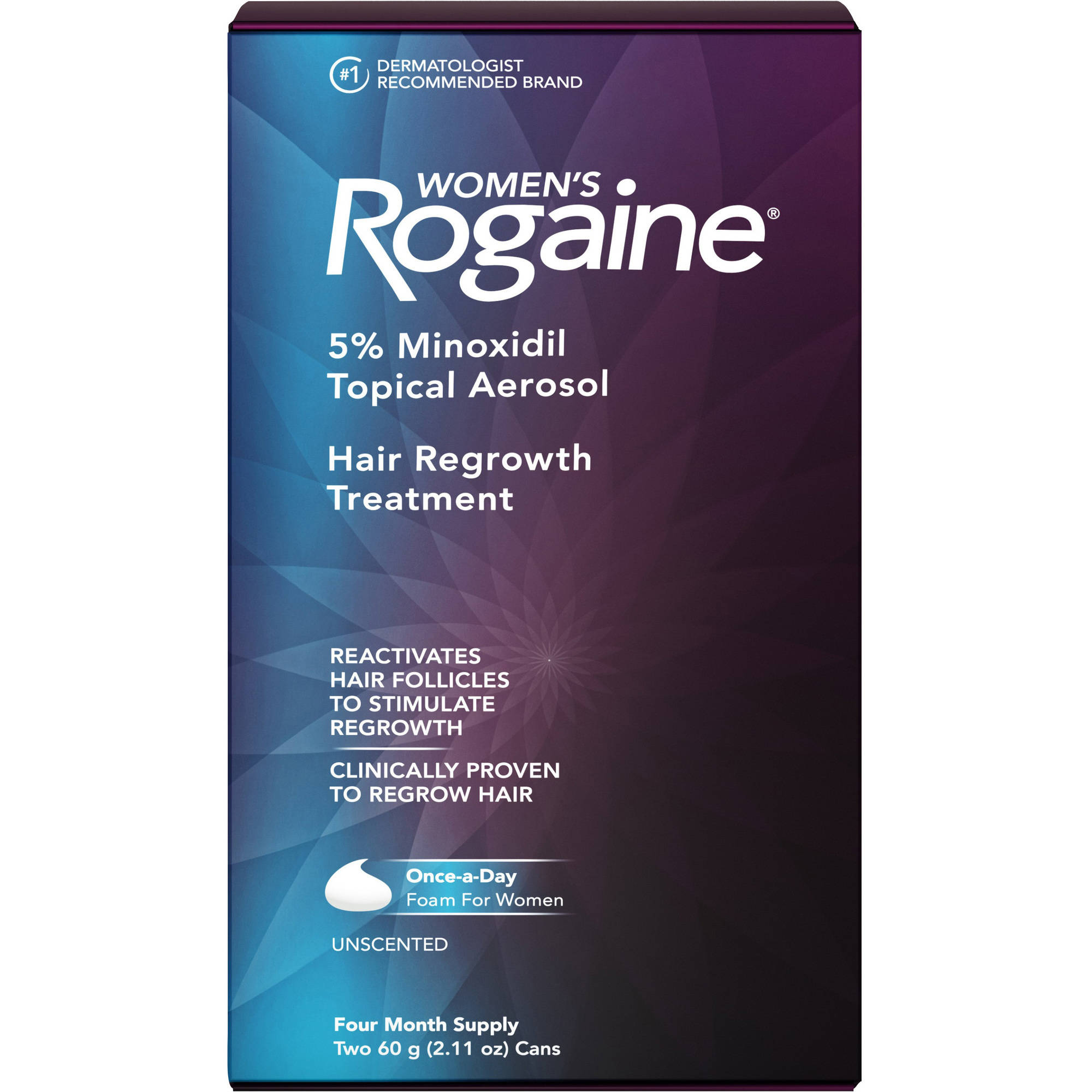 Women's Rogaine Once-A-Day Foam Hair Regrowth Treatment, Four Month Supply