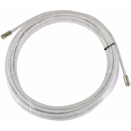 Wilson Electronics 950630 RG6 F-Male to F-Male Low-Loss Coaxial Cable, 30', White