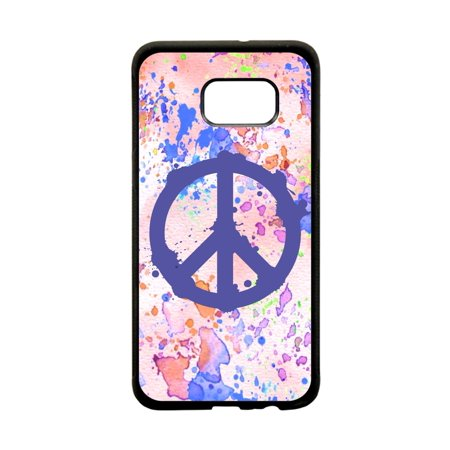 Watercolor Splash Peace Symbol Design Black TPU Rubber Protective Phone  Case That Is Compatible with the Samsung Galaxy s7 Edge