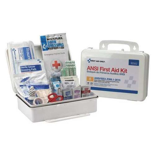 FIRST AID ONLY 90562 First Aid Kit,2-3/8 in.W x 2-3/8 in.D G2101596
