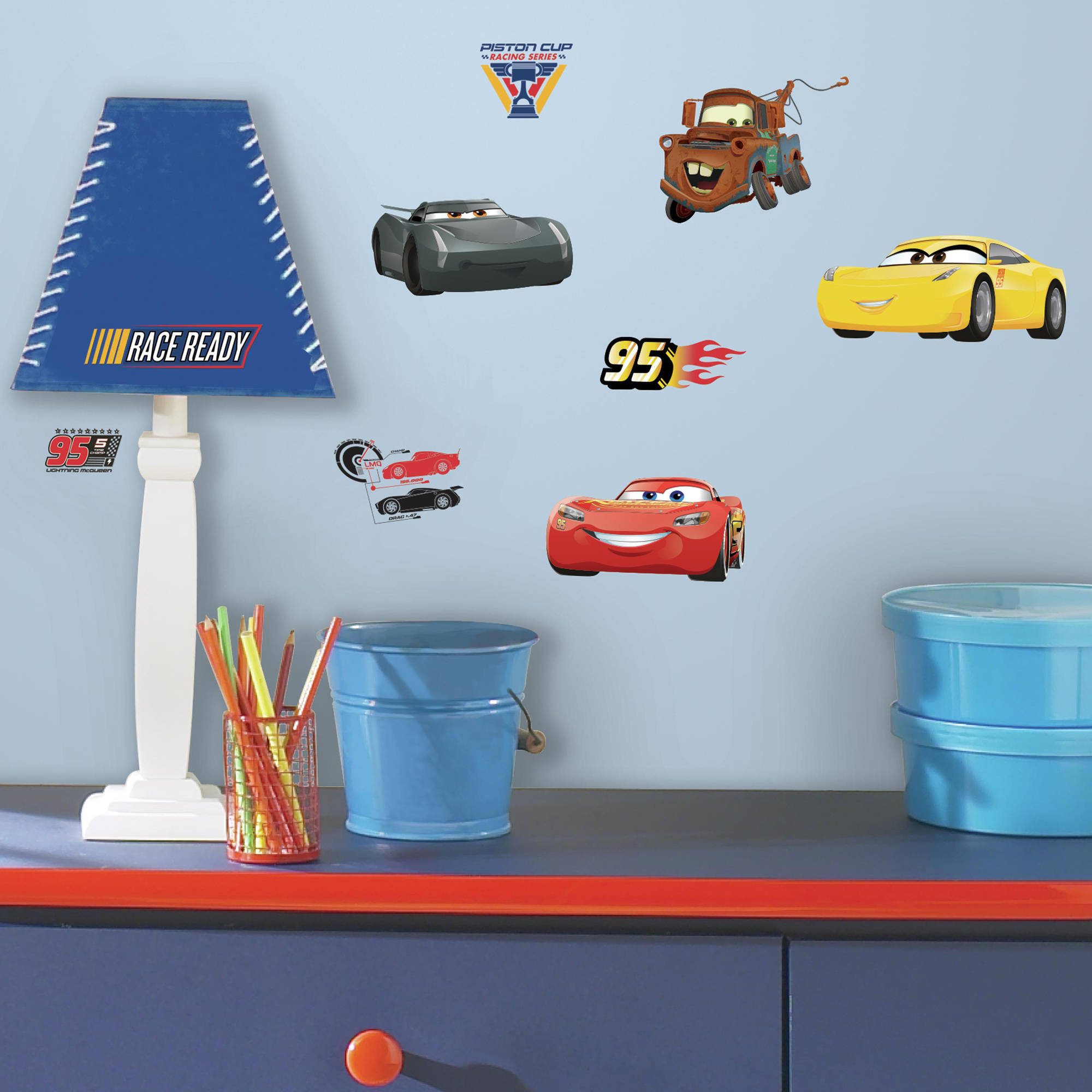 Cars - Disney Cars 3 Wall Decals