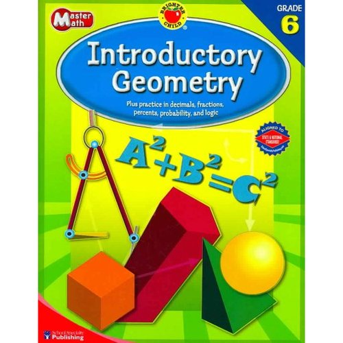 Brighter Child Master Math Introductory Geometry, Grade 6