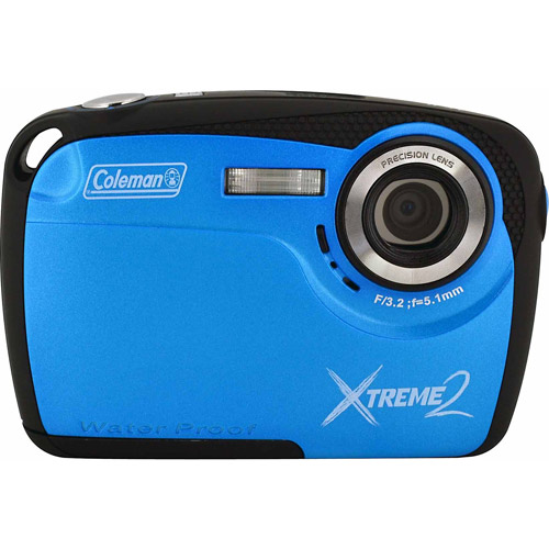Coleman Blue Xtreme2 C12WP Waterproof Digital Camera with 16 Megapixels and 4x Digital Zoom