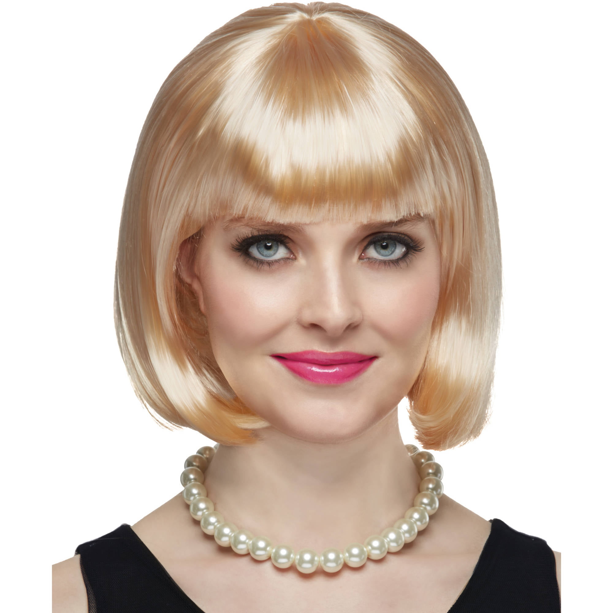 blonde short bob wig halloween costume accessory walmartcom - Halloween Costumes With Blonde Wig