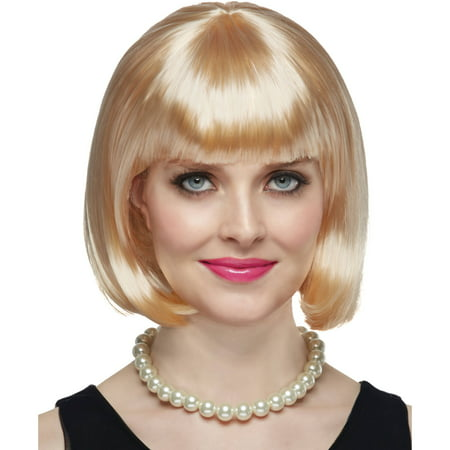 Blonde Short Bob Wig Halloween Costume Accessory - Short Blonde Costume Wig