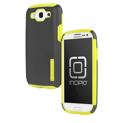 Incipio SILICRYLIC DualPro - Case for cell phone - silicone, Plextonium - yellow, dark gray - for Samsung GALAXY S III