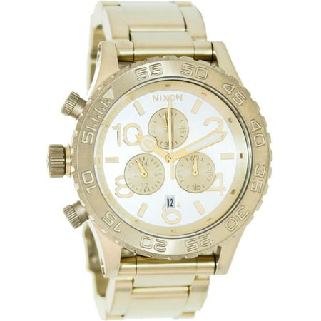 Nixon Men's 42-20 Chrono A0371219 Gold Stainless-Steel Quartz Fashion Watch