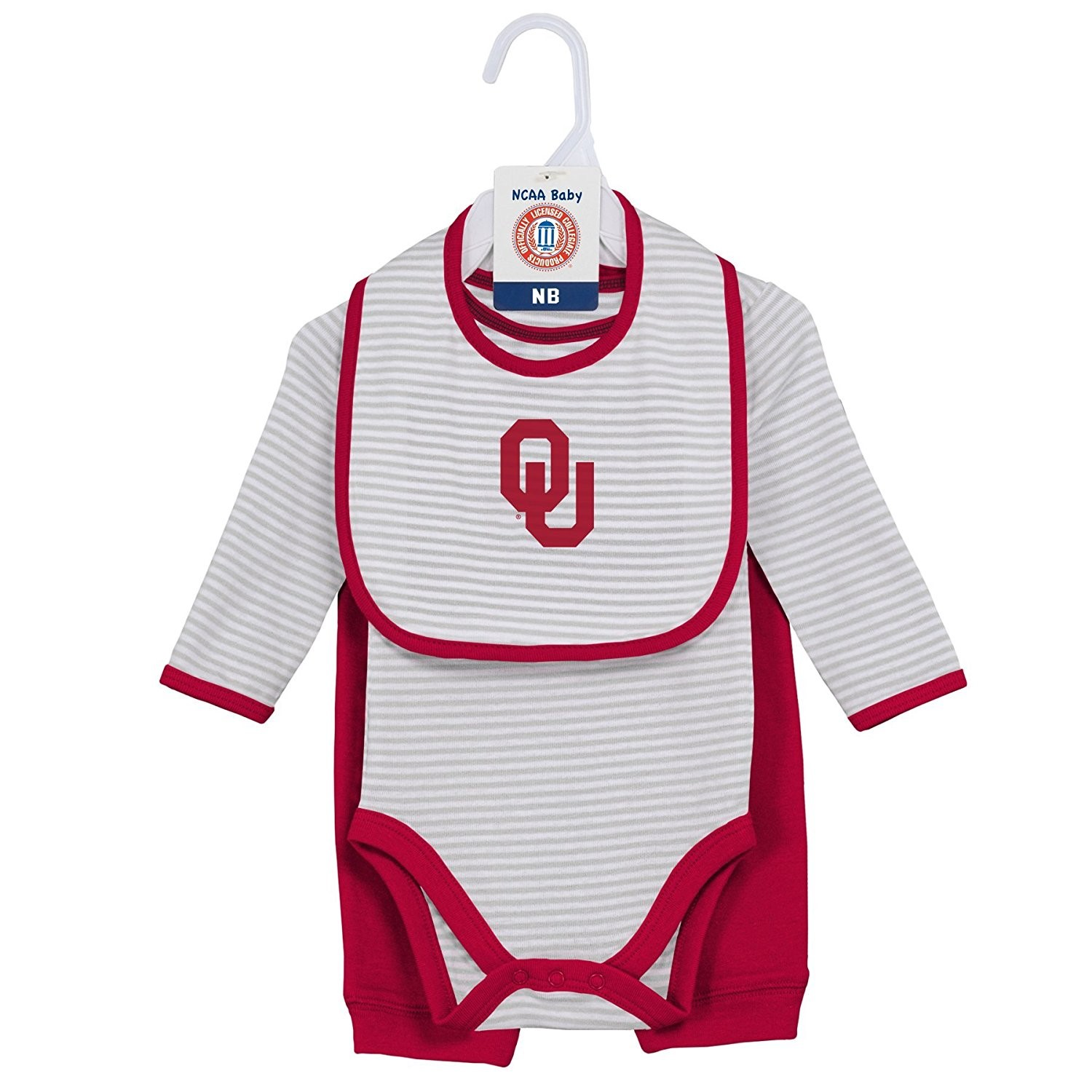 "Oklahoma Sooners Infant ""Interception"" Pant Set with Creeper & Bib by"