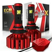 OPT7 Fluxbeam X 9005 LED Headlight Bulbs w/Arc-Beam Lens - 8,400LM 6000K Daytime White - All Bulb Sizes - 60w - 2 Year Warranty