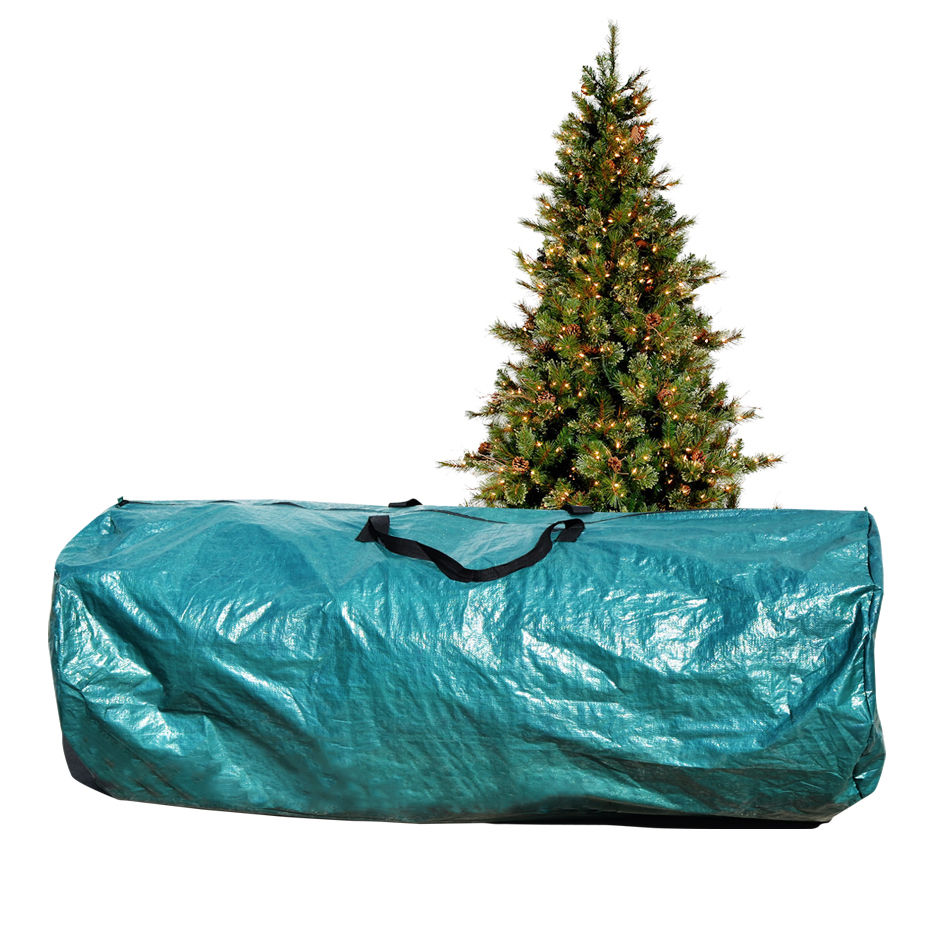 Large Artificial Christmas Tree Carry Storage Bag Holiday Clean Up 9' Green