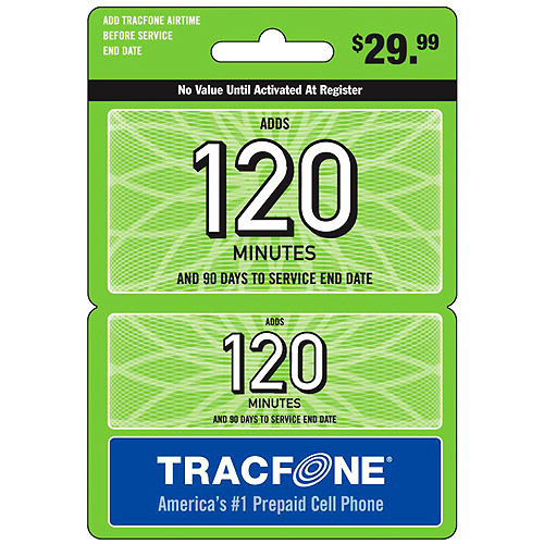 (Email Delivery) Tracfone 120-Minutes Wireless Airtime Card