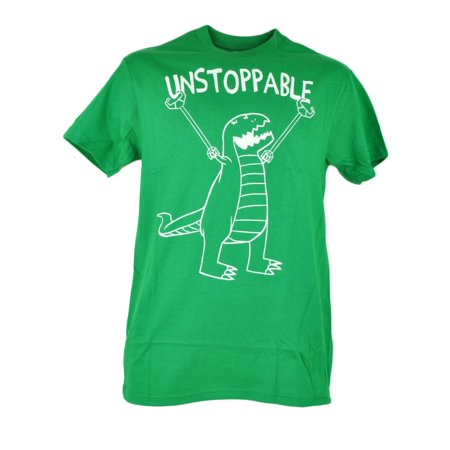 Unstoppable T-Rex Dinosaur Drawing Graphic Tshirt Green Mens Adult Tee Small (Dinosaur Shirts For Adults)