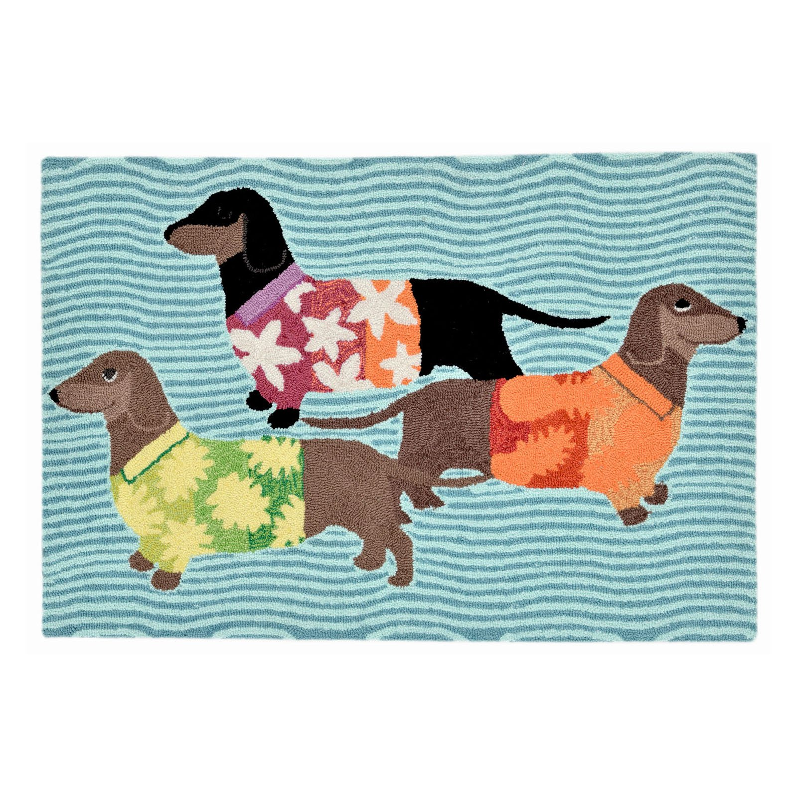 Trans Ocean Frontporch 1583 44 Tropical Hounds Indoor   Outdoor Doormat by Trans Ocean