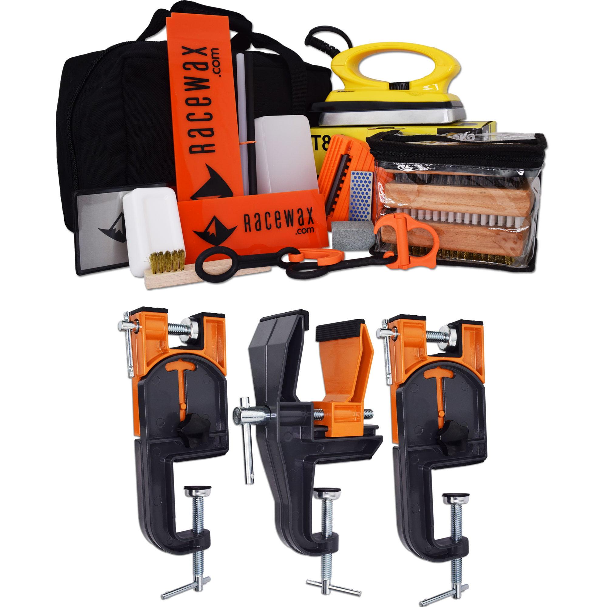 RaceWax Podium Ski Wax Tuning Kit Plus Ski Vise (Accepts Snowboard Adapter) by RaceWax