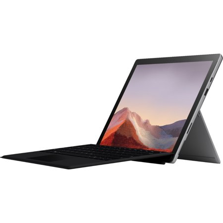 "NEW Microsoft Surface Pro 7 – 12.3"" Touch-Screen - Intel Core i5 - 8GB Memory - 128GB Solid State Drive (Latest Model) – Platinum with Black Type Cover"