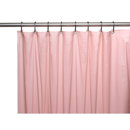 Premium 4 Gauge Vinyl Shower Curtain Liner w/ Weighted Magnets and Metal Grommets in Pink