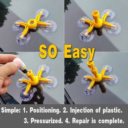 DIY Windshield Repair Kits Glass Scratches Restore Cracks Chips Repair Tools - image 7 de 9