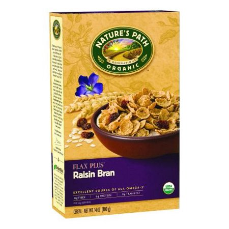 - Nature's Path Natures Path Flax Plus Raisin Bran Cereal 14 Ounce