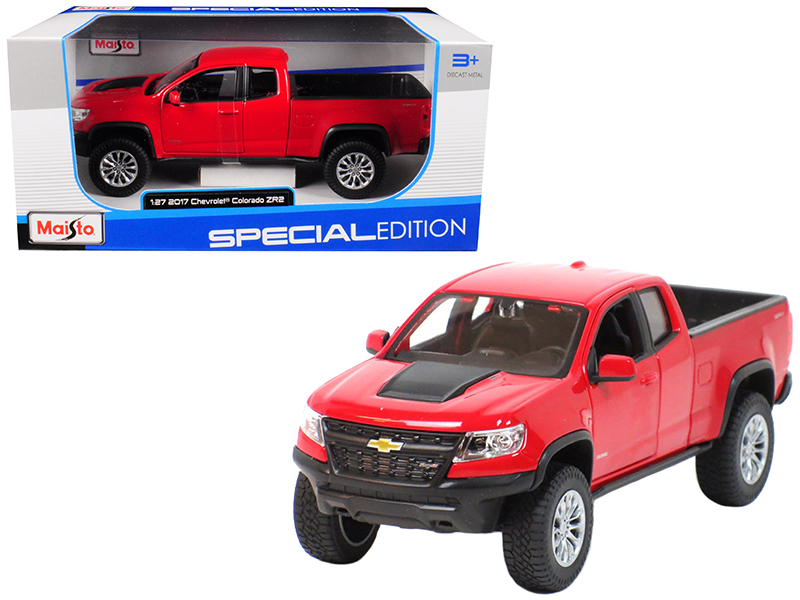 2017 Chevrolet Colorado ZR2 Pickup Truck Red 1 27 Diecast Model Car by Maisto by Maisto