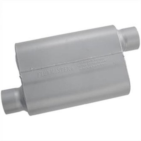 Transamerican Auto Parts Flw43043 3 In  Flowmaster 40 Series Muffler For Offset Inlet   Outlet