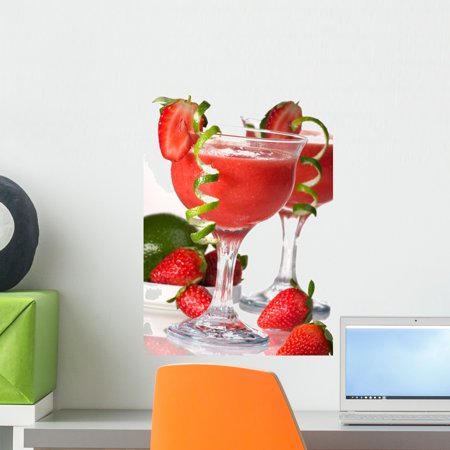 Strawberry Daiquiri Cocktails Most Wall Mural Decal by Wallmonkeys Vinyl Peel and Stick Graphic (18 in H x 13 in (Daiquiri Vinyl)