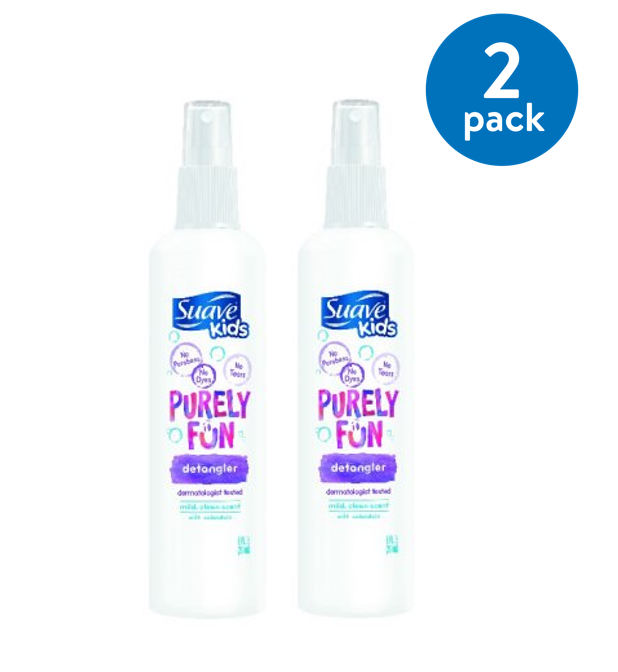 (2 pack) Suave Kids Detangler Spray Purely Fun 10 oz