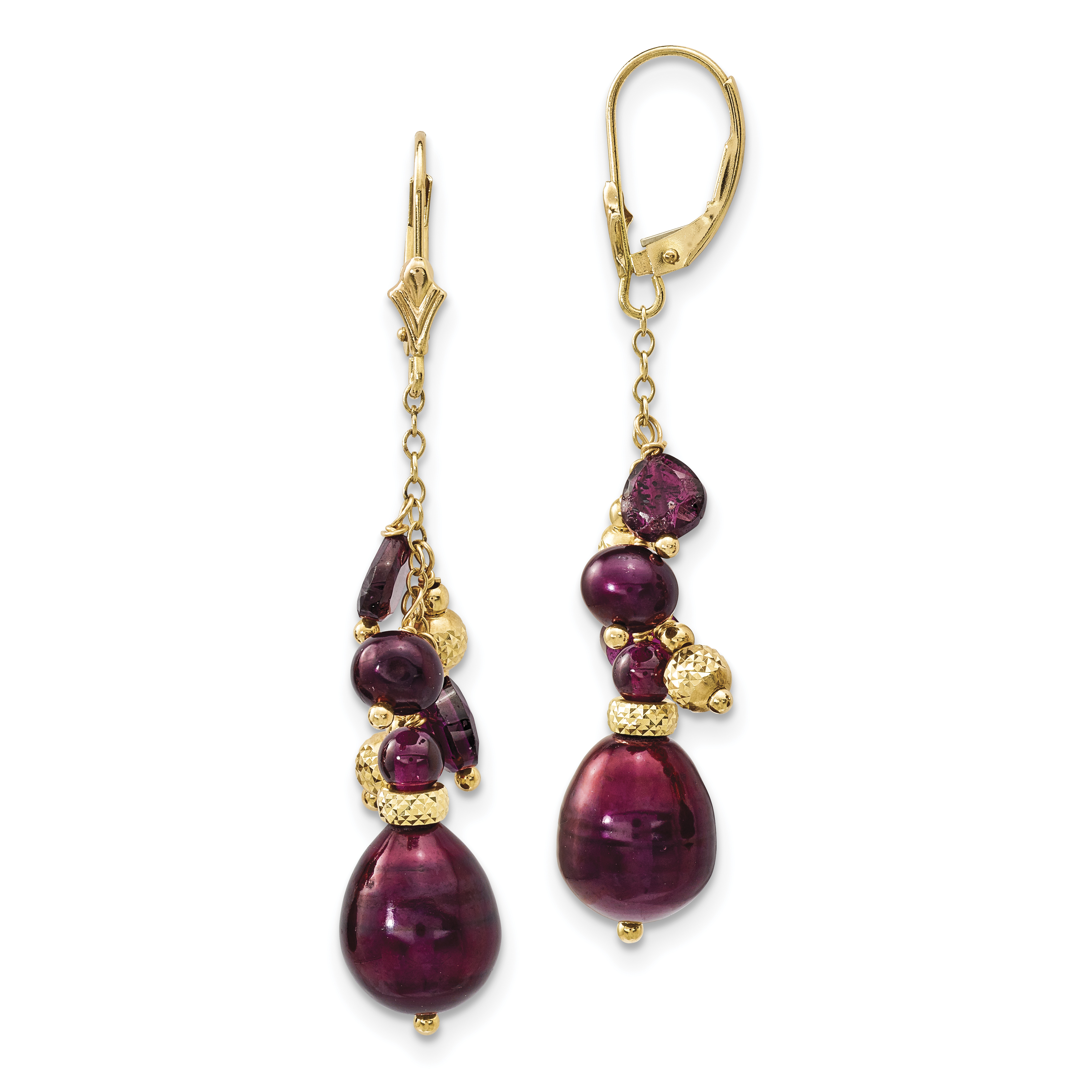 Cranberry Earrings Vintage Glass Retro Leverback Yoga Gifts for Her Dark Pink Dangle Earrings Gift for Sister Heart Chakra Jewelry Women
