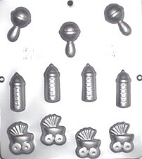 Assorted Baby Chocolate Candy Lollipop Mold