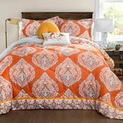 Harley Quilted Comforter Tangerine 5-Piece Set, King