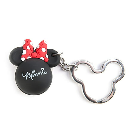 Key Chain - Disney - Minnie Bow Icon Ball Key Ring - Red Or Pink Bow New - Disco Ball Key Chain