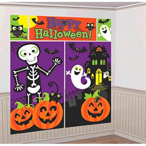 Halloween Trick or Treat Scene Setters Wall Banner Decorating Kit - Halloween Balcony Decorating Ideas