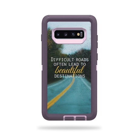 MightySkins Skin Compatible With Otterbox Defender Samsung Galaxy S10+ - All My Friends Are Dead | Protective, Durable, and Unique Vinyl wrap cover | Easy To Apply, Remove | Made in the