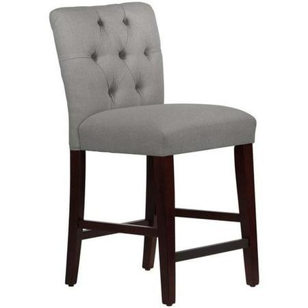 Skyline Furniture 68-6LNNGR Tufted Dining Chair, Linen Grey ()