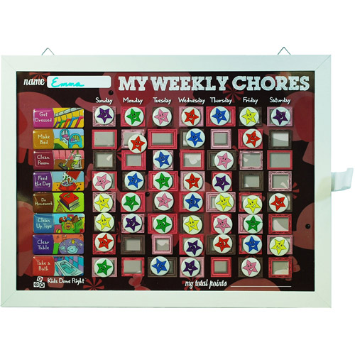 My Weekly Chores Pink Elephants Magnetic Dry-Erase Rewards Chart
