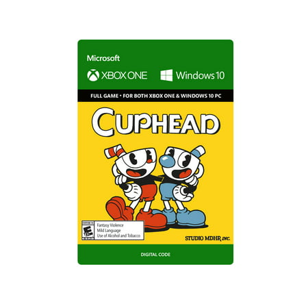Downloadable Games (Microsoft Cuphead – Xbox One and Windows 10 Digital Code )