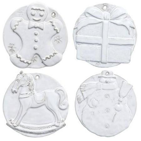 Vietri Bellezza Holiday Assorted Seasonal Ornaments, S/4 ()