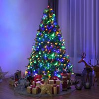 Costway 6Ft Pre-Lit Artificial Christmas Tree Premium Hinged w/ 350 LED Lights & Stand