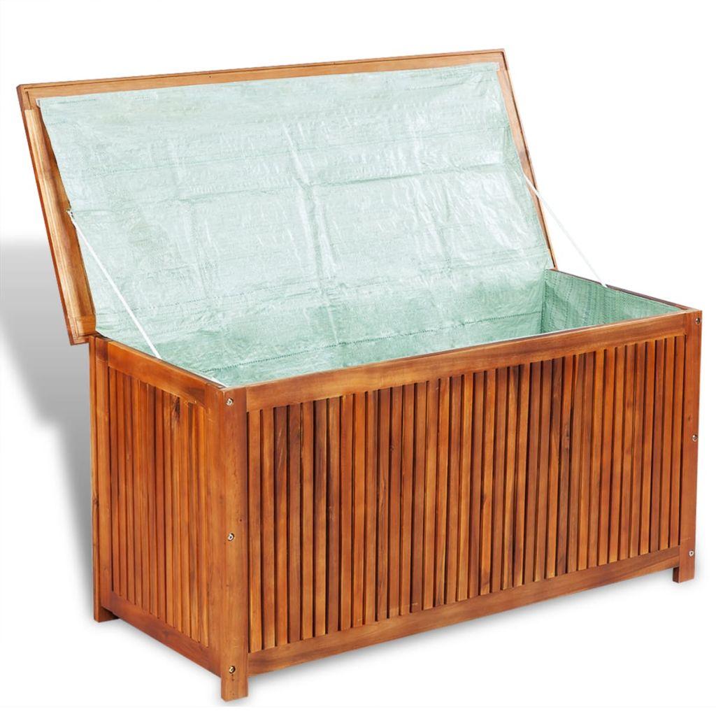 vidaXL Deck Storage Box Acacia Wood