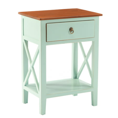 Stand Side Table With Storage Drawer And Shelf The Perfect Stylishly Designed Addition For Bedroom Living Room Or Conservatory Size 14 X 19 26 Inch