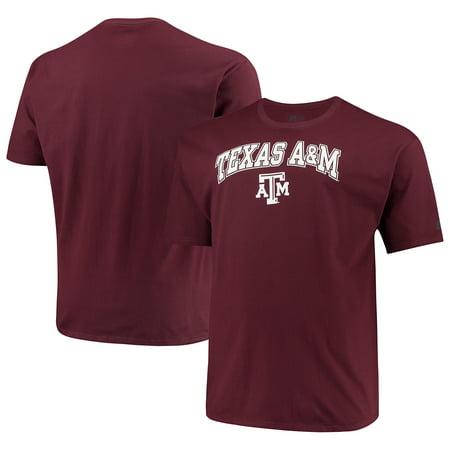 Texas A&m Shirt - Russell NCAA Texas A&M Aggies Big Men's Classic Cotton T-Shirt
