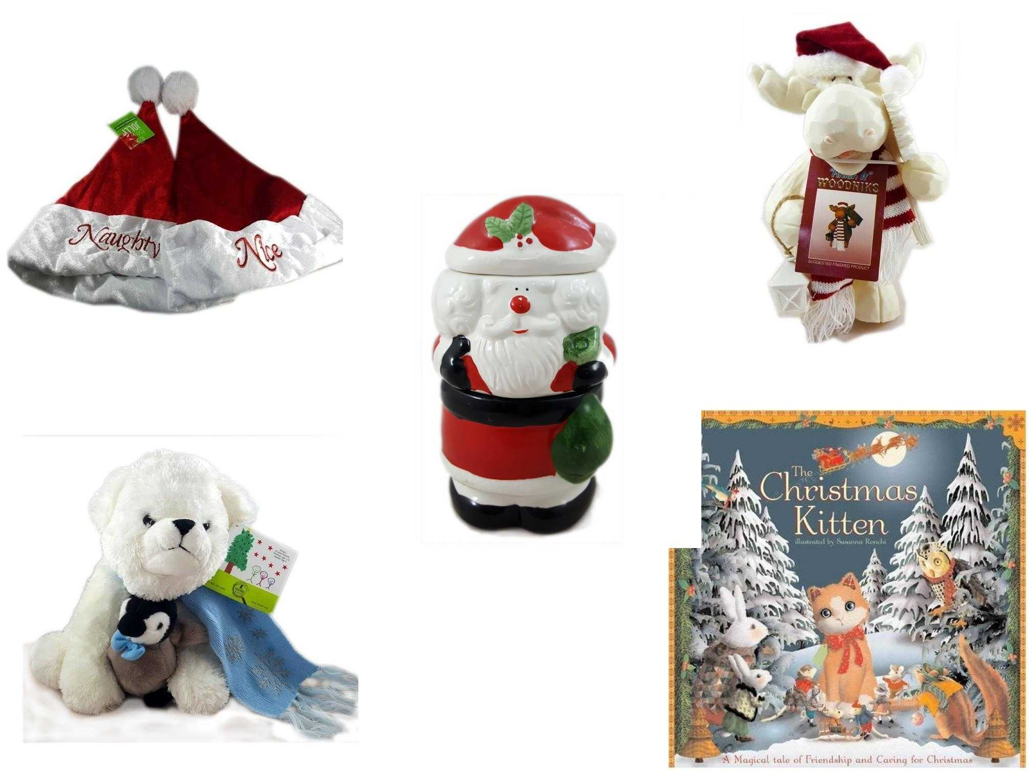 675bb6f0 Christmas Fun Gift Bundle [5 Piece] - Be Jolly Embroidered Naughty Nice Santa  Hat 17