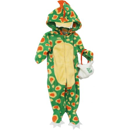 Dinosaur Baby Bag And Zip Up Bodysuit Costume Two Piece Set](2 Piece Costumes)