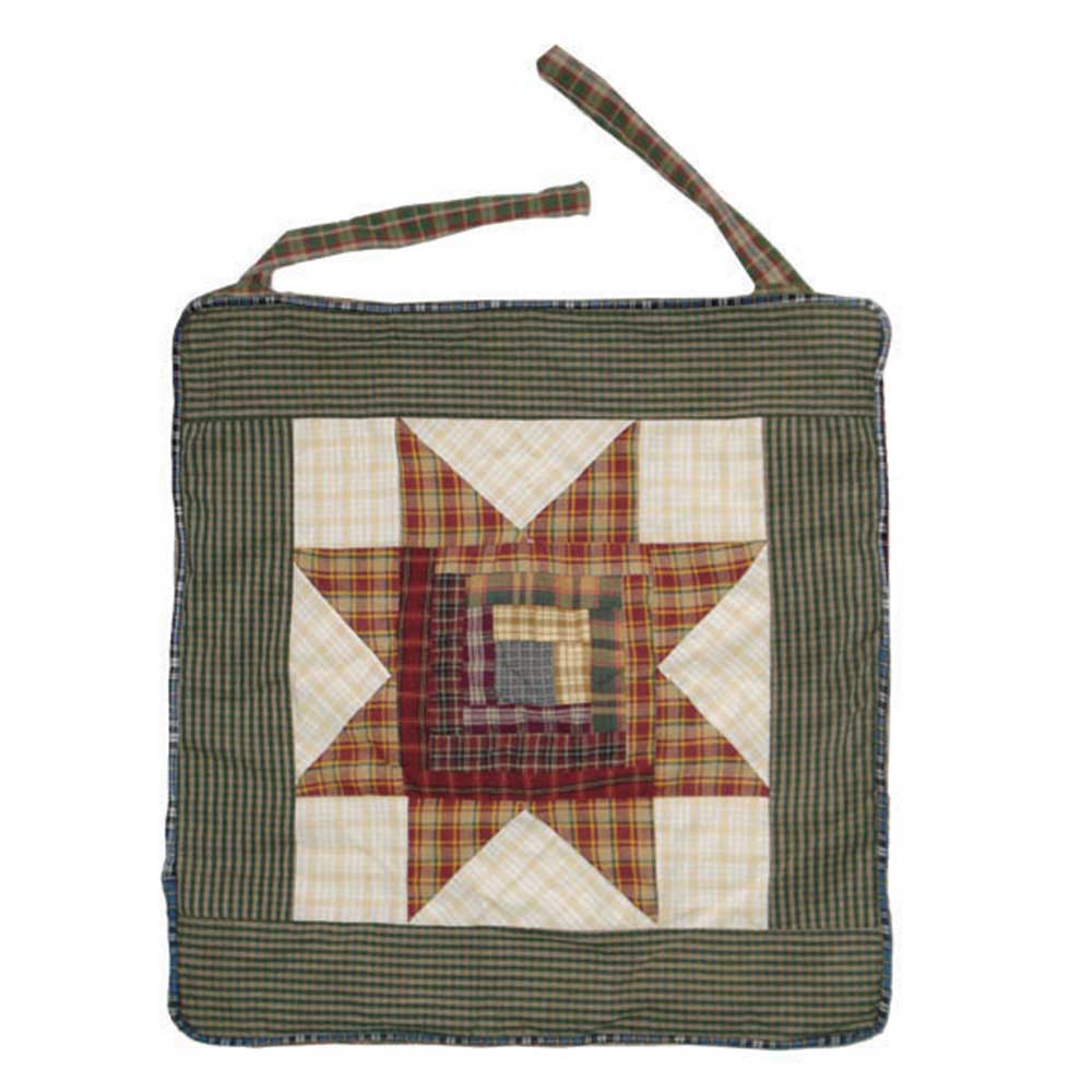 """Patch Magic Cottage Star Chair Pad 17"""" X 17"""" by"""