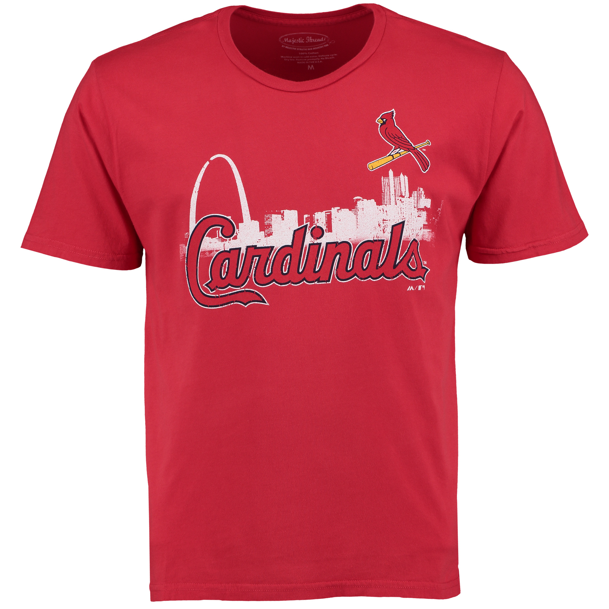 St. Louis Cardinals Majestic Threads City Skyline Softhand Tri-Blend T-Shirt - Red