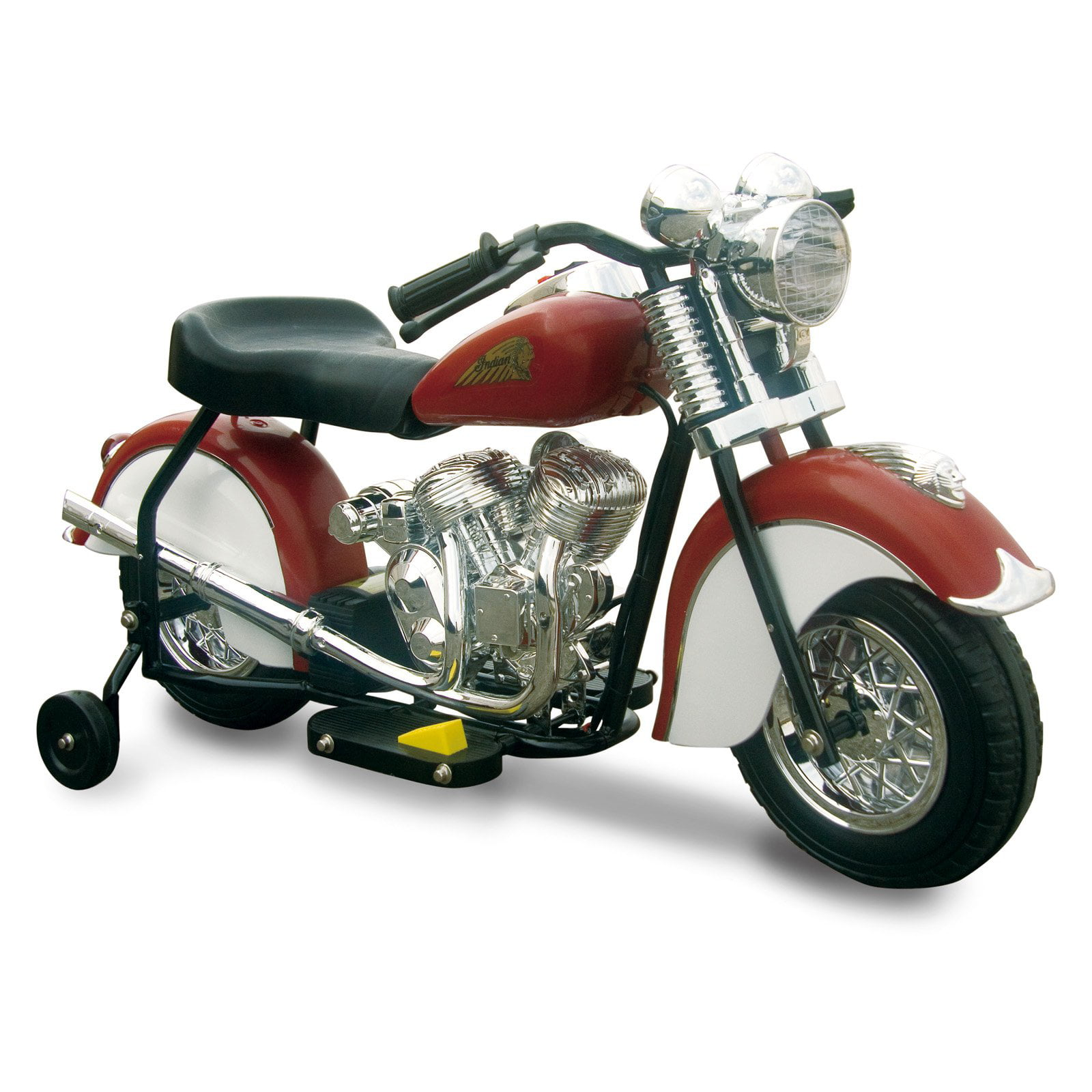 Little Vintage Indian Motorcycle Ride-On, Red White by Generic