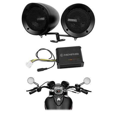 Memphis Audio Motorcycle Audio w/ Handlebar Speakers For Royal Enfield (Best Handlebar For Royal Enfield)
