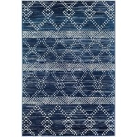 Little Seeds Serenity Vintage Navy Area Rug, 5 x 7