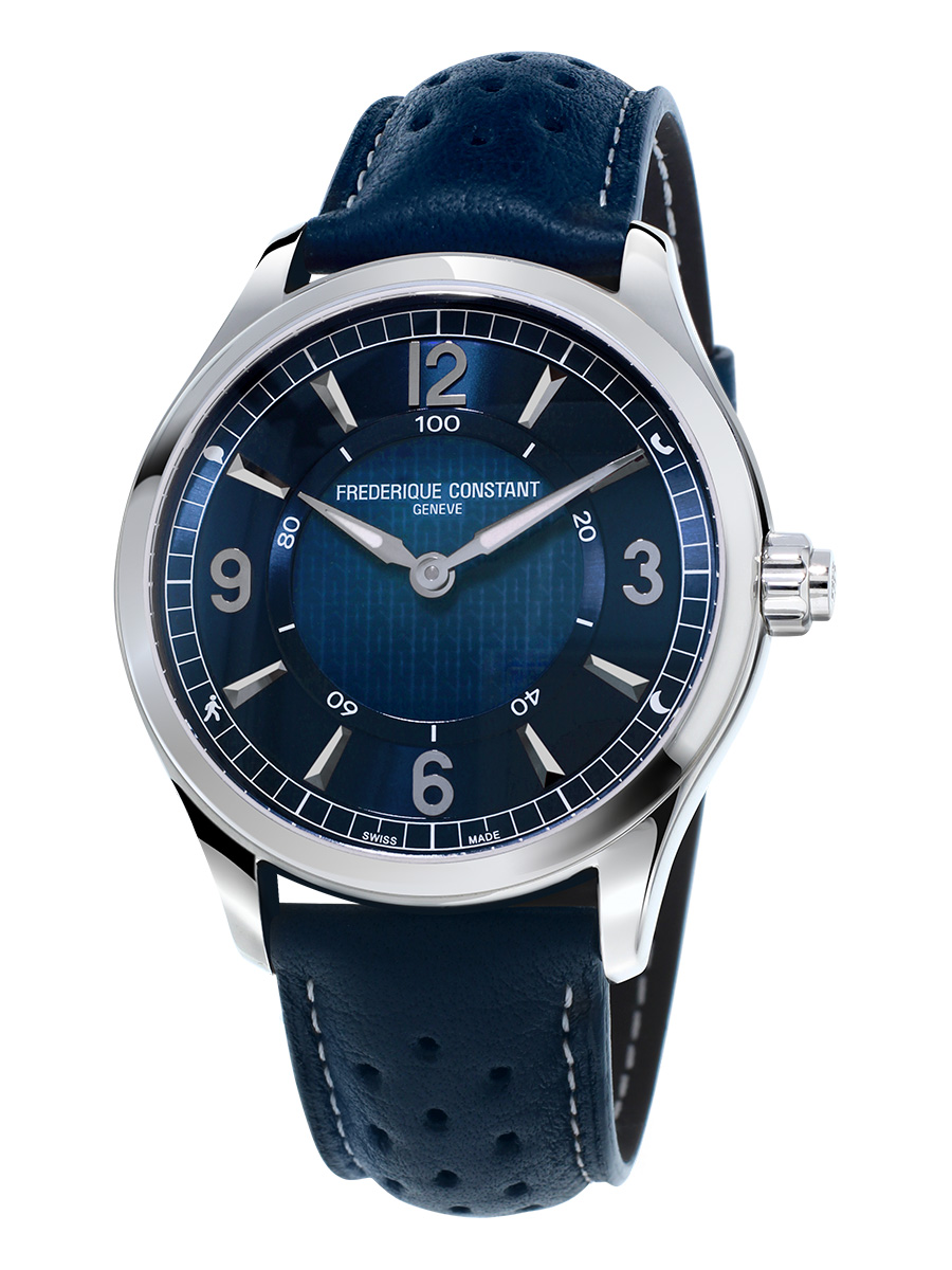 Frederique Constant HSW Navy Dial Leather Strap Men's Watch FC282AN5B6