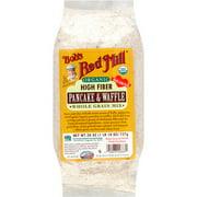 (4 Pack) Bob's Red Mill Organic High Fiber Whole Grain Pancake & Waffle Mix, 26 oz - $0.21/oz