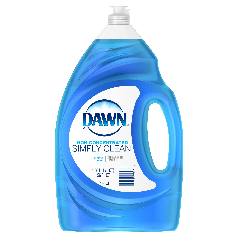 Dawn Simply Clean Dishwashing Liquid Dish Soap, Original Scent, 56 fl oz